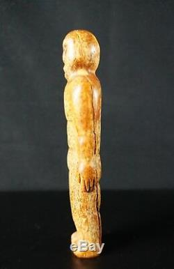 65# OLD! From Late 19th To Early 20th Alaskan Native Fossil Statuette INUIT