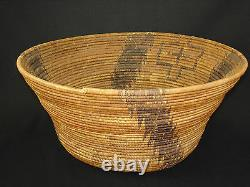 A Very Early and tightly woven Pomo basket, Native American Indian, Circa 1895