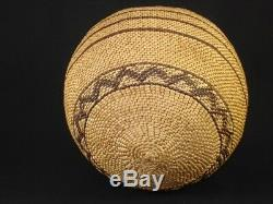 An Early Polychrome Yokuts Twined Olla Basket, Native American Indian, c. 1900