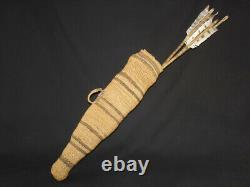 An Early and Rare Modoc Arrow Quiver Basket, Native American Indian, c. 1890