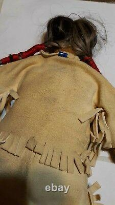 Antique 16 Doll Leather Beads Native American Indian early c. 19th c