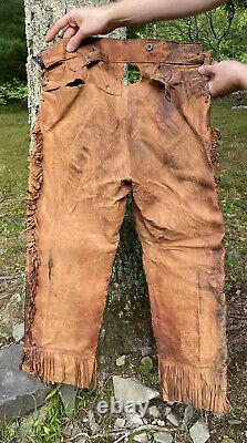Antique 19th Early 20th C. Wild West Show / Mohawk Native American Jacket Pants