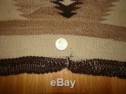 Antique All Natural Navajo Child Blanket, Early Native American Weaving Rug