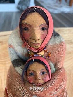 Antique Early 1900s Mary Frances Woods Mother & Pappoose-Extremely Rare