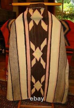 Antique Navajo Banded Blanket Early Native American Weaving, rug