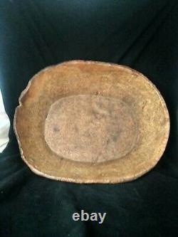 Antique vintage early American burl wood bowl