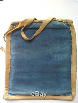 Beaded Flatbag purse Native American Pictoral Deer Beadwork Nez Perce early 1900