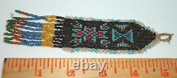 Beautiful Antique Early 1900's Native American Sioux Indian Beaded Watch Fob