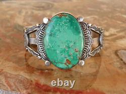 EARLY MORRIS ROBBINSON (1901-1984) Sterling Silver & Turquoise Bracelet 7 inch