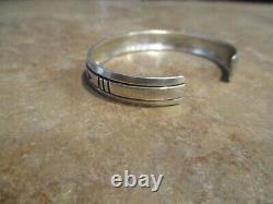 EARLY OLDER Vintage Tommy Singer (d.) Navajo Sterling Silver Design Bracelet