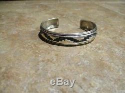 EARLY Vintage TOMMY SINGER (d.) Navajo Sterling Silver Design Bracelet