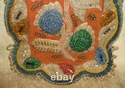 Early 1900's Caughnawaga Reservation Iroquois (Mohawk) Beaded Cover