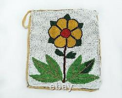 Early 1900s Native American Floral Beaded Bag Plateau Tribe (Colville)