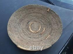 Early 20 SO. CALIFORNIA MISSION INDIAN native American BASKET TRAY / BOWL