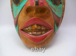 Early 20th Century Pacific Northwest Tlingit Haida Native American Abalone Mask
