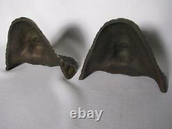 Early 20th century pair of Bronze Indian Chief Bookends nice, ships free