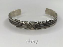Early Bell Trading Post sterling silver cuff bracelet Native American Vtg 211177