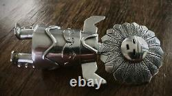 Early Esther Wood Solid Silver 3-Dimensional Kachina Doll Standing Pendant RARE
