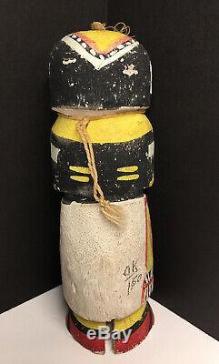 Early & LARGE Native American Hopi Kachina Carved Doll Katsina ROUTE 66 ANTIQUE