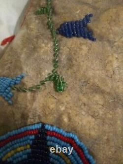 Early Native American Childs Beaded Leather Vest