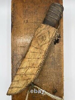 Early Native American Knife and Parfleche Sheath