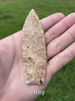 Early Native American Oklahoma Blade Arrowhead Point Paleo