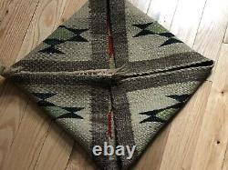 Early Navajo Native American Indian Sampler Blanket Rug Weaving Nice