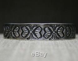 Early Navajo Native American Ingot Sterling Silver Native American Bracelet