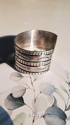 Early Navajo Silver Ingot Cuff Bracelet