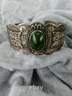 Early Navajo Sterling Old Pawn Bracelet Beautiful Design