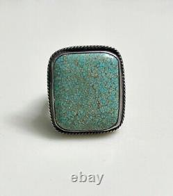 Early Navajo Turquoise Ring, 17.4 grams valuable stone Size 10ish
