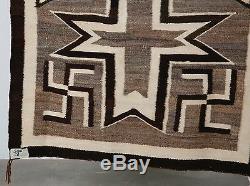 Early Navajo rug, blanket Native American textile weaving Crystal Whirling log