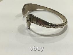 Early Original Hand Carved Tlingit Silver Bracelet Bill Wilson Hoonah Alaska