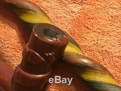 Early Plains catlinite pipe and matching stem, Native American