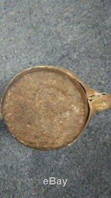 Early Rare Native American Indian Artifact Stone Mallet Beaded Leather Deer Hide