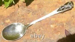 Early Rare Sterling SHREVE & CO NORMAN Hammered Native American Arrow Head Spoon