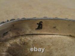 Early Vintage Don Lucas Turquoise & Sterling Silver Row Bracelet