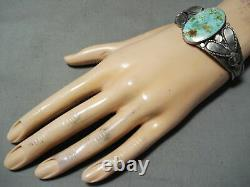 Early Vintage Navajo Royston Turquoise Sterling Silver Bracelet