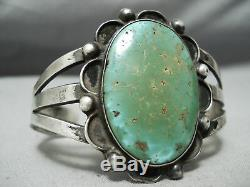 Early Vintage Navajo Royston Turquoise Sterling Silver Bracelet Old