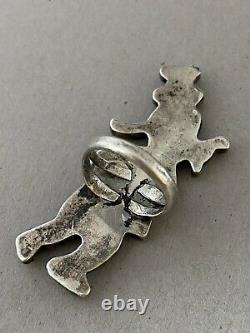 Early Vintage Patsy Spencer ZUNI Toons Disney Goofy Inlay Sterling Silver Ring
