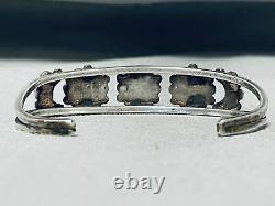 Early Vintage Zuni Navajo Cerrillos Turquoise Sterling Silver Bracelet