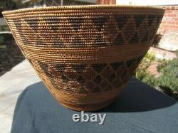 Early Yokuts Native American Polychrome Basket