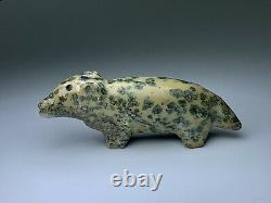 Early Zuni Carved Stone Bear Fetish By Leekya Deyuse (d.) Native American