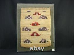 Early and large Plateau Corn Husk Bag, framed, Native American Indian, c. 1900