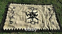 Fine Antique Navajo Early Ganado Historic Whirling Logs Blanket Native American