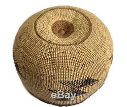 HUPA KAROK Karuk Yurok Basket Hat, Early Northwest / California Native American