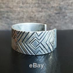 Important Early First Phase Navajo Ingot Silver Cuff Bracelet Old Pawn