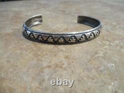 LARGER EARLY TOMMY SINGER (d.) Navajo Inlay Sterling Silver Design Bracelet