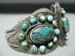 Late 1800's/ Early 1900's Vintage Navajo Turquoise Silver Bracelet