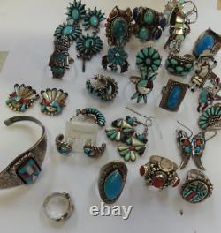 Lot of Native American JEWELLERY& other Ethnic INCLUDING Rings, Bracelet, Earring